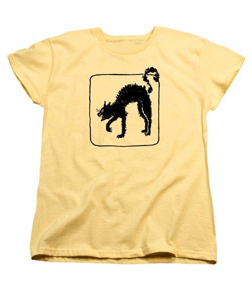 Halloween Cat Women's T-Shirt (Standard Cut) by rd Erickson