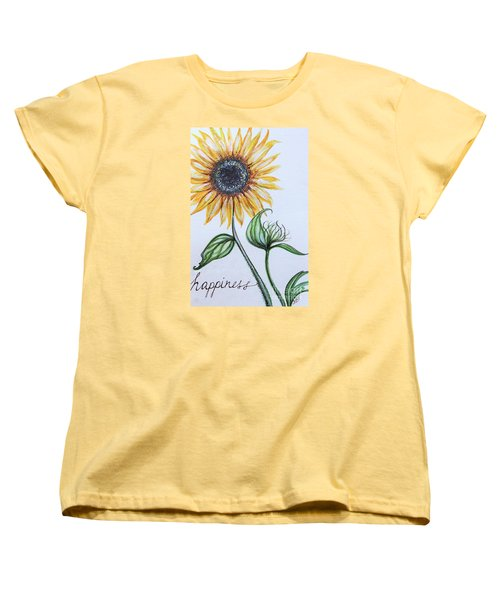Women's T-Shirt (Standard Cut) featuring the painting Happiness by Elizabeth Robinette Tyndall