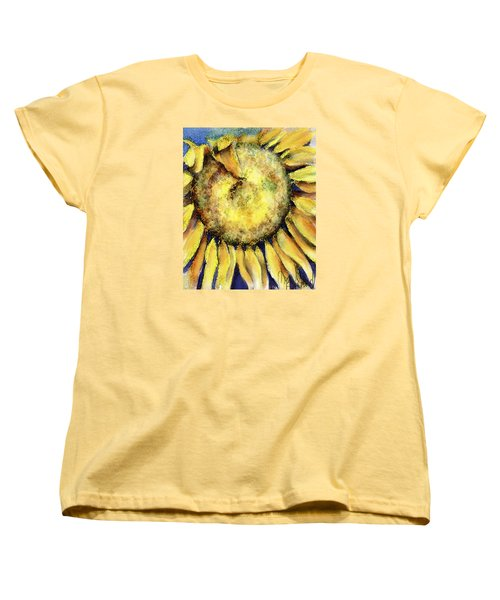 Women's T-Shirt (Standard Cut) featuring the painting Happy Day by Annette Berglund