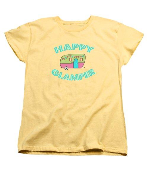 Happy Glamper 1 Women's T-Shirt (Standard Cut) by Lisa Bradley