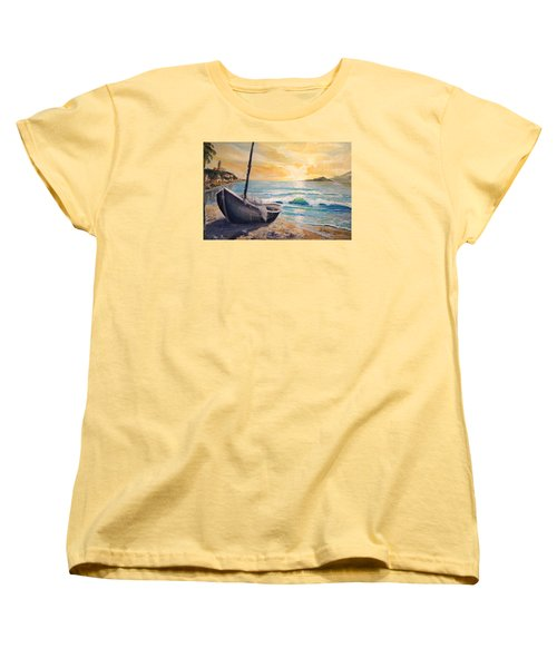 Happy Hour Women's T-Shirt (Standard Cut) by Alan Lakin