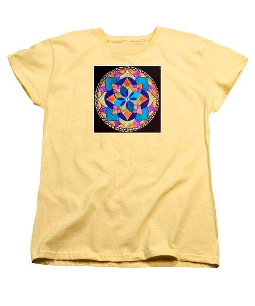 Happy Mandala  Women's T-Shirt (Standard Cut) by Sandra Lira