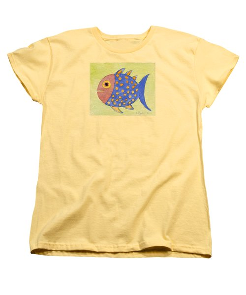 Happy Speckled Fish Women's T-Shirt (Standard Cut) by Fred Jinkins