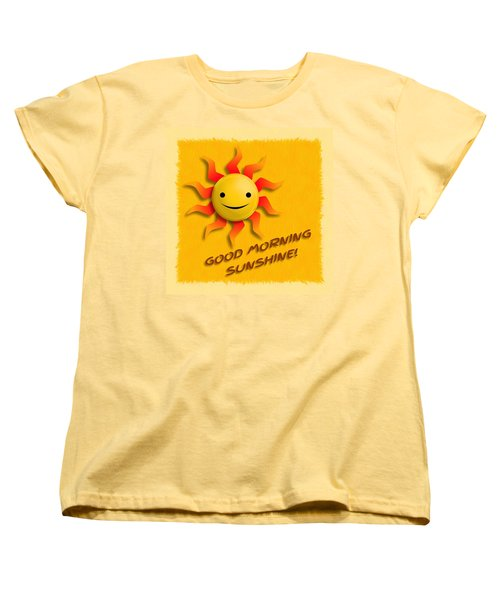 Happy Sun Face Women's T-Shirt (Standard Cut) by John Wills