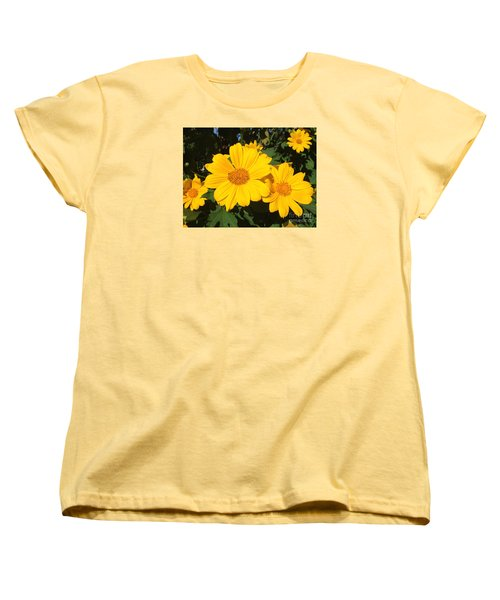 Happy Yellow Women's T-Shirt (Standard Cut) by LeeAnn Kendall
