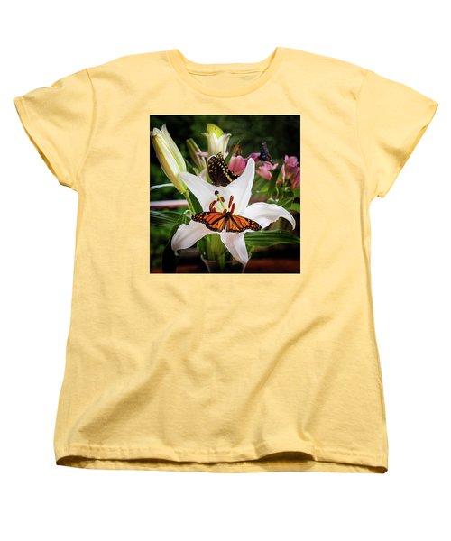 Women's T-Shirt (Standard Cut) featuring the photograph He Still Gives Me Butterflies by Karen Wiles