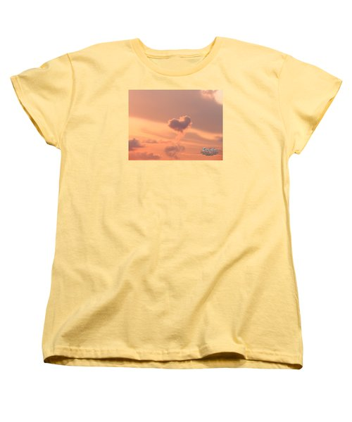 Women's T-Shirt (Standard Cut) featuring the photograph Hearts In The Clouds by Barbara Tristan