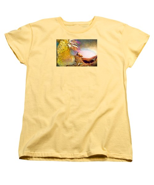 Hermit Crab Landscape Women's T-Shirt (Standard Cut) by Adria Trail