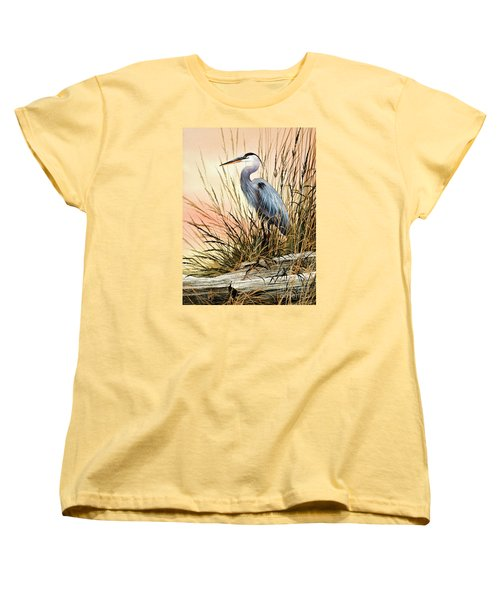 Heron Sunset Women's T-Shirt (Standard Cut) by James Williamson