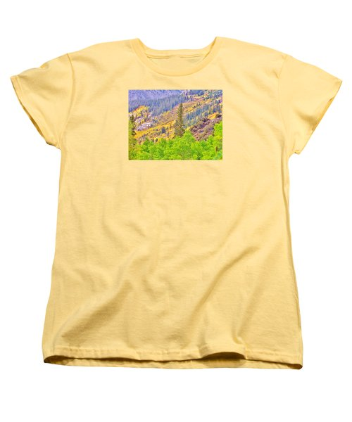 High Sierra Fall Colors Women's T-Shirt (Standard Cut) by Marilyn Diaz