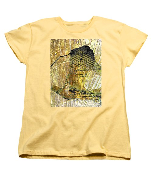 Women's T-Shirt (Standard Cut) featuring the mixed media Hole In The Wall by Tony Rubino