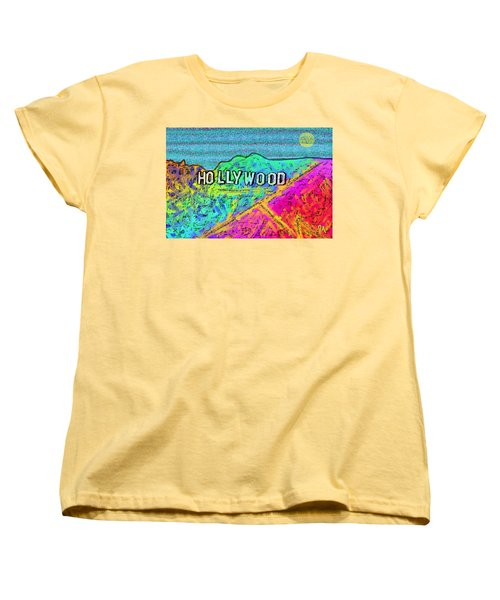 Hollycolorwood Women's T-Shirt (Standard Cut) by Jeremy Aiyadurai
