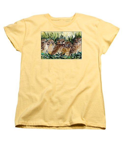 Hoo Is Looking At Me? Women's T-Shirt (Standard Cut) by Mindy Newman