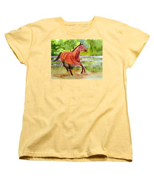 Horse #3 Women's T-Shirt (Standard Cut) by Larry Hamilton