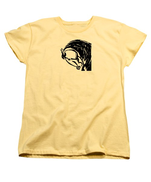 Horse Design A Women's T-Shirt (Standard Cut) by Mary Armstrong