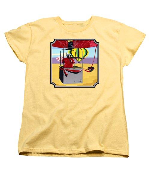 Hot Air Ballooning - Abstract - Pop Art -  Square Format Women's T-Shirt (Standard Fit)