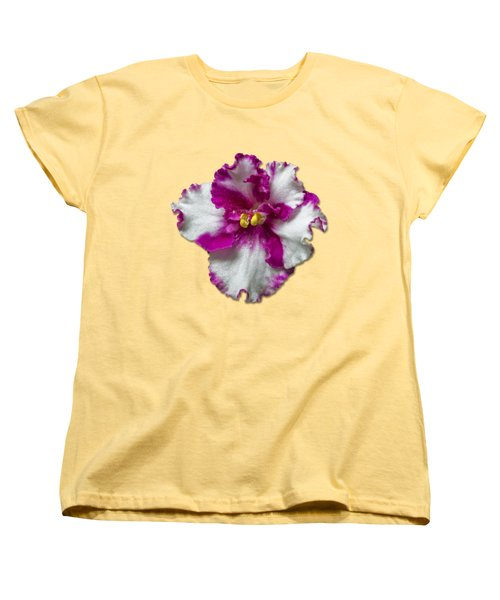 Hot Pink Flower Women's T-Shirt (Standard Cut) by Bob Slitzan