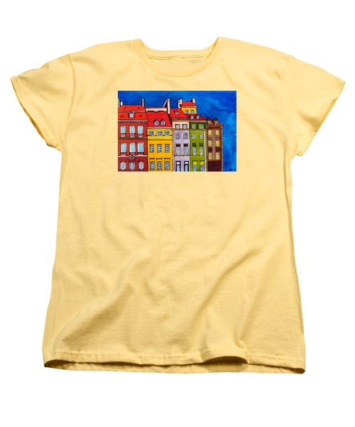 Houses In The Oldtown Of Warsaw Women's T-Shirt (Standard Cut) by Dora Hathazi Mendes