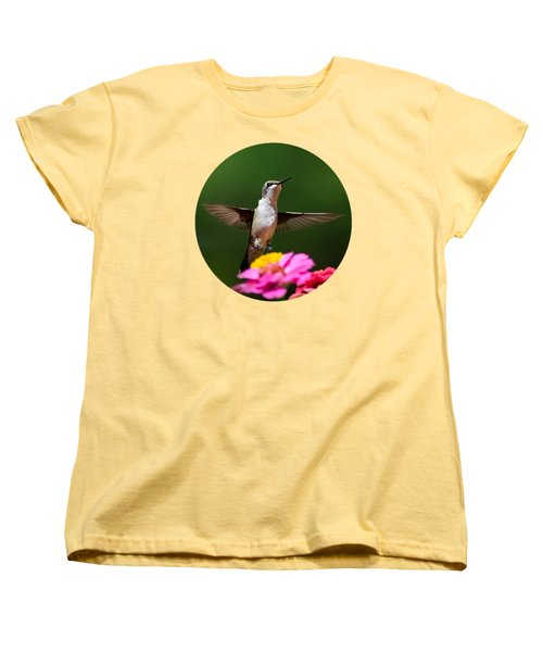 Hummingbird Women's T-Shirt (Standard Cut) by Christina Rollo