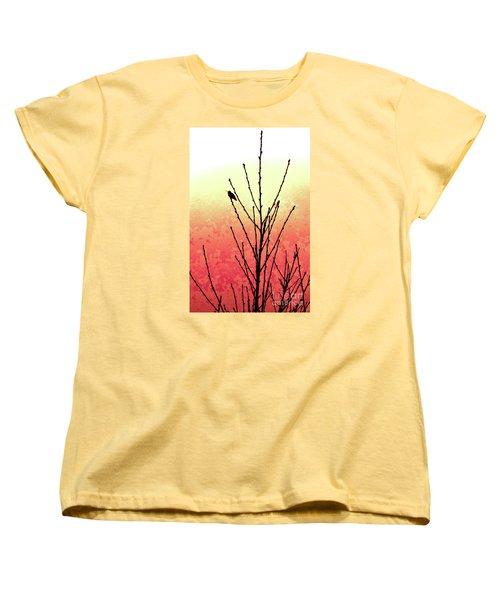 Hummingbird Peach Tree Women's T-Shirt (Standard Cut) by Gem S Visionary