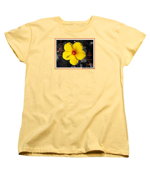 Women's T-Shirt (Standard Cut) featuring the digital art I Choose To Become by Holley Jacobs