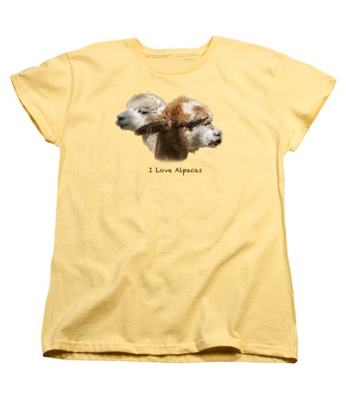 I Love Alpacas Women's T-Shirt (Standard Cut) by George Robinson
