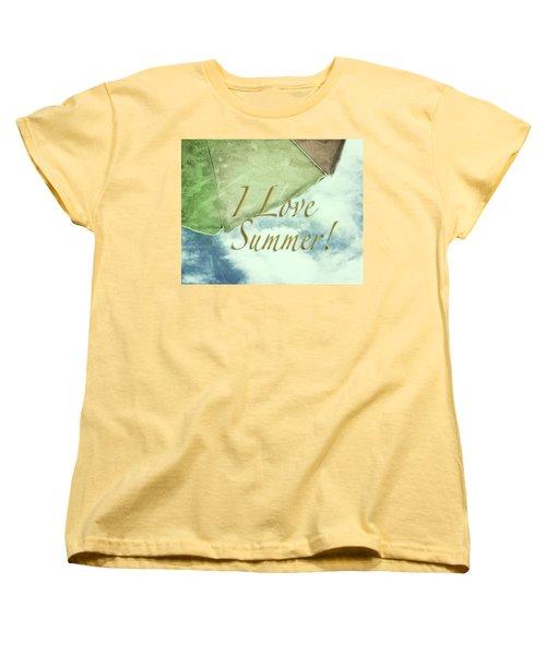 I Love Summer I Women's T-Shirt (Standard Cut) by Marianne Campolongo
