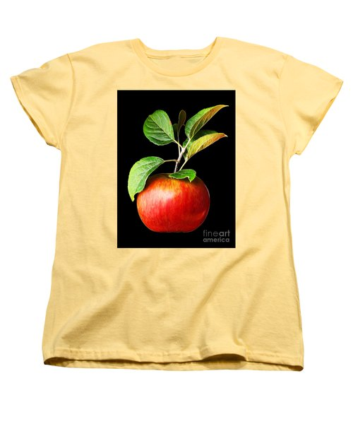 Ida Red Apple And Leaves Women's T-Shirt (Standard Cut) by Wernher Krutein