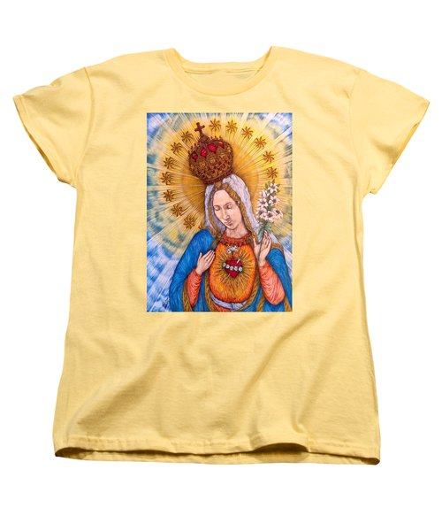 Immaculate Heart Of Virgin Mary Women's T-Shirt (Standard Cut) by Kent Chua