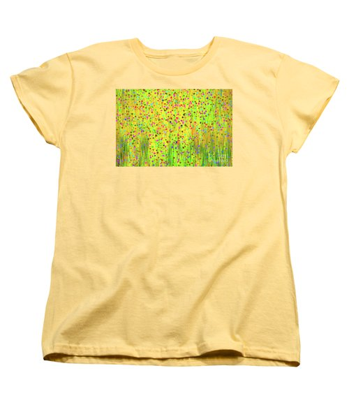 Impressionist Meadow Women's T-Shirt (Standard Cut) by Silvia Ganora