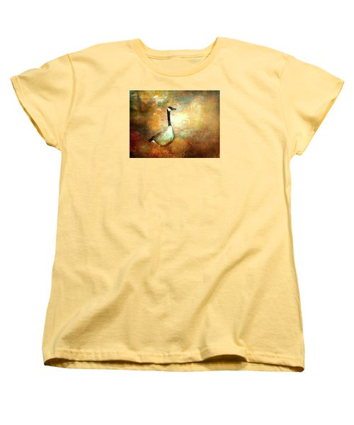 Women's T-Shirt (Standard Cut) featuring the painting In A Quiet Place by Bellesouth Studio