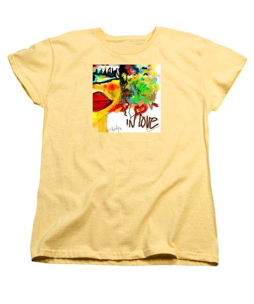 Women's T-Shirt (Standard Cut) featuring the digital art In Love  by Sladjana Lazarevic