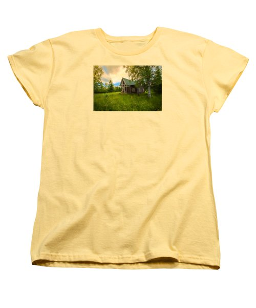 Women's T-Shirt (Standard Cut) featuring the photograph In Peace In Your Grace by Rose-Maries Pictures