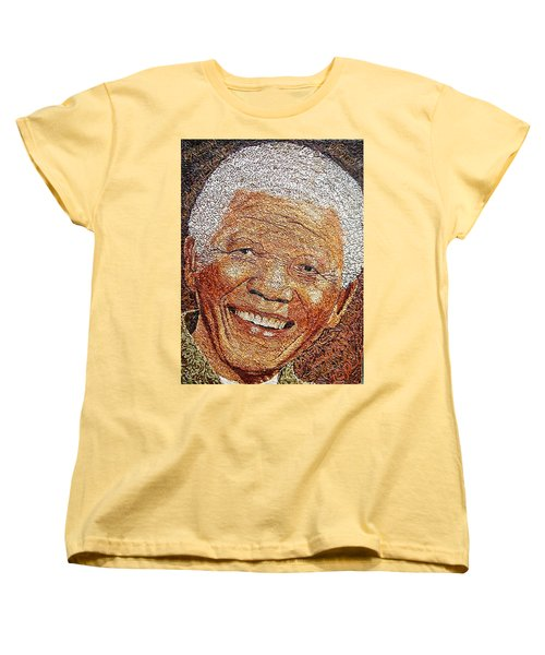 Nelson Mandela - In The Pyramid Of Our Minds Women's T-Shirt (Standard Cut) by Bankole Abe