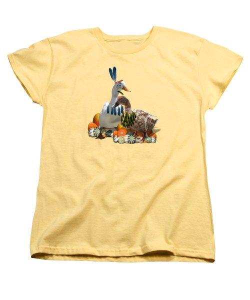 Indian Ducks Women's T-Shirt (Standard Cut) by Gravityx9 Designs