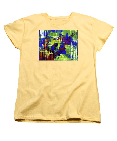 Women's T-Shirt (Standard Cut) featuring the painting Intensity II by Cathy Beharriell