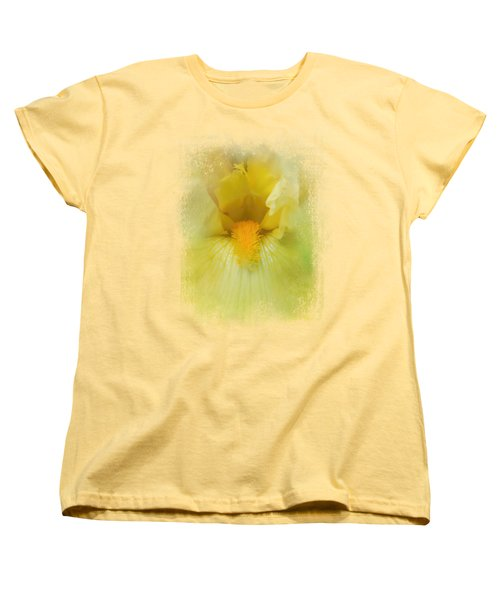 Iris In Lime Women's T-Shirt (Standard Cut) by Jai Johnson