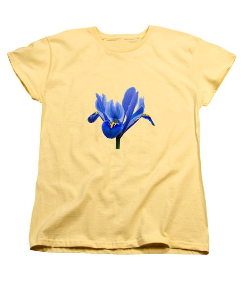 Iris Recticulata Transparent Background Women's T-Shirt (Standard Cut) by Paul Gulliver