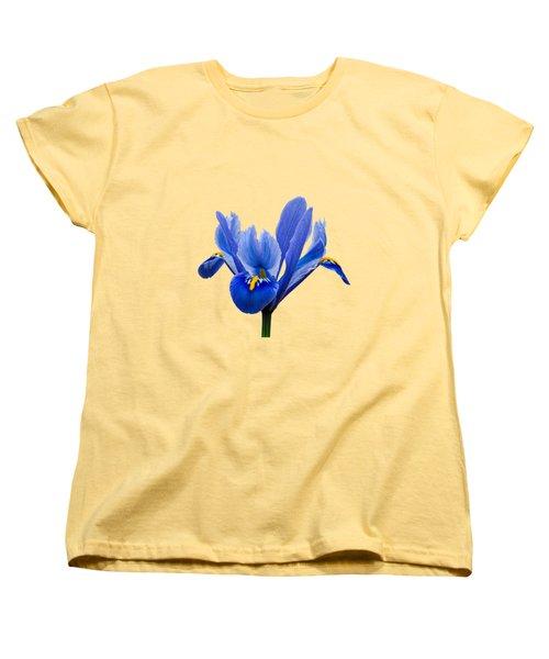 Women's T-Shirt (Standard Cut) featuring the photograph Iris Recticulata Transparent Background by Paul Gulliver