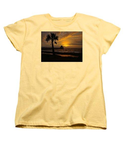 Island Sunrise Women's T-Shirt (Standard Cut) by Judy Vincent