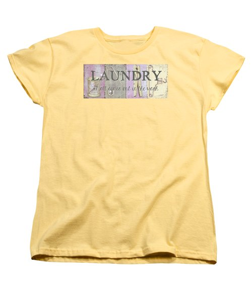Women's T-Shirt (Standard Cut) featuring the painting It All Comes Out In The Wash by Debbie DeWitt