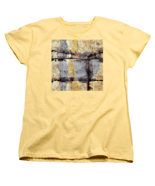 Women's T-Shirt (Standard Cut) featuring the painting Jagged Lavendar by Maria Huntley