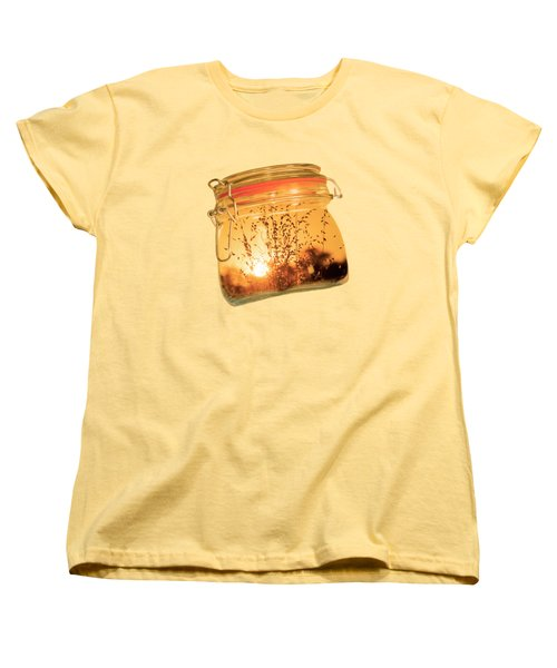 Women's T-Shirt (Standard Cut) featuring the photograph Jar Full Of Sunshine by Linda Lees