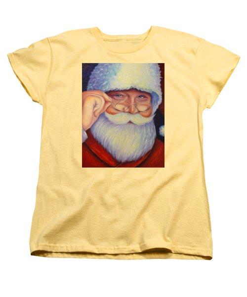 Jolly Old Saint Nick Women's T-Shirt (Standard Cut)