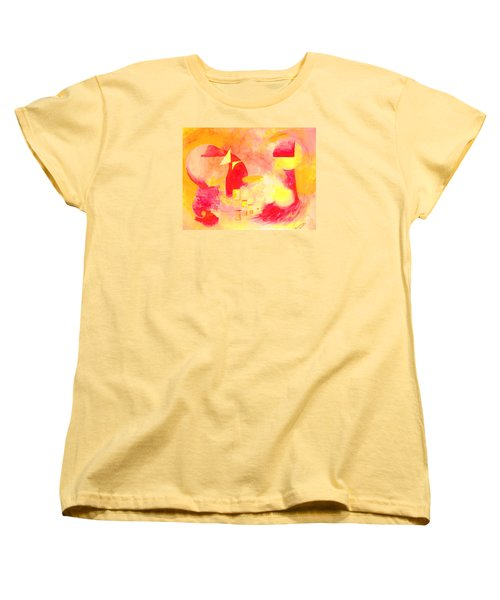 Women's T-Shirt (Standard Cut) featuring the painting Joyful Abstract by Andrew Gillette