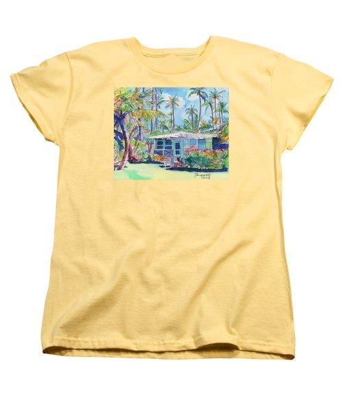 Kauai Blue Cottage 2 Women's T-Shirt (Standard Cut)