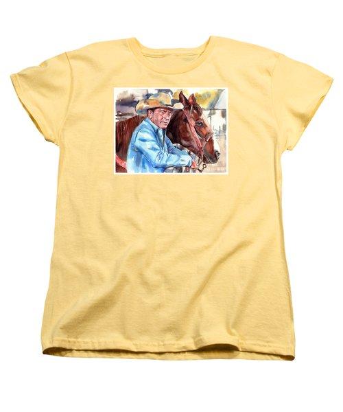 Kevin Costner Portrait Women's T-Shirt (Standard Fit)