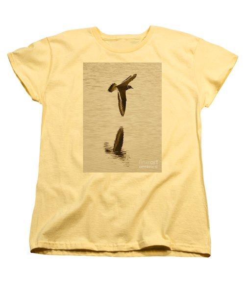 Killdeer Over The Pond Women's T-Shirt (Standard Cut) by Carol Groenen