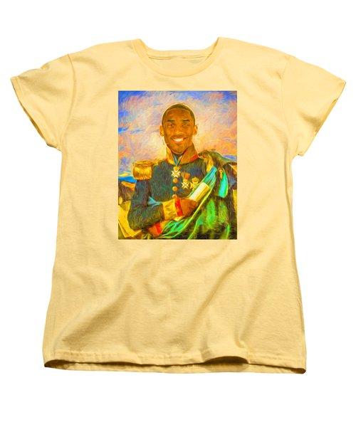 Kobe Bryant Floor General Digital Painting La Lakers Women's T-Shirt (Standard Cut) by David Haskett