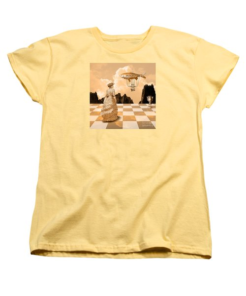 Women's T-Shirt (Standard Cut) featuring the drawing Lady by Alexa Szlavics